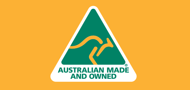 Australian Made & Owned logo